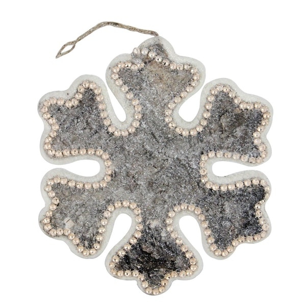 """8"""" Nature's Luxury Rustic Embellished Snowflake Decorative Christmas Ornament"""
