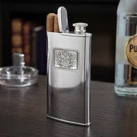 Royal Crested Cigar Flask - N/A