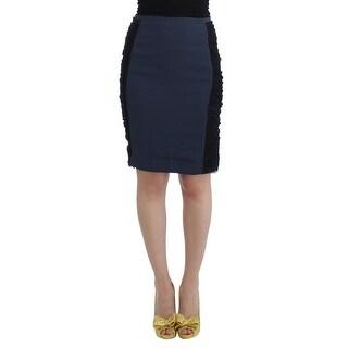 Cavalli Cavalli Blue pencil skirt - it42-m