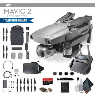 DJI Mavic 2 Pro (CP.MA.00000019.01) Fly More Combo, 3 Total Batteries, Car charger and More - Fly More Combo