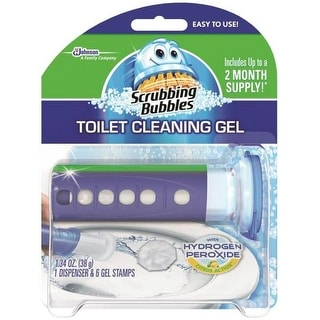 Scrubbing Bubbles 71380 Toilet Cleaning Gel with Dispenser, Citrus Action