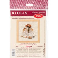 """Sparrow Counted Cross Stitch Kit-4""""X4"""" 14 Count"""