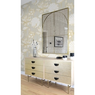 Link to NextWall Lotus Floral Peel and Stick Wallpaper Similar Items in Wall Coverings