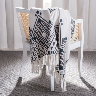 Link to Safavieh Lancia 50 x 60-inch Southwestern Fringe Throw Blanket Similar Items in Blankets & Throws