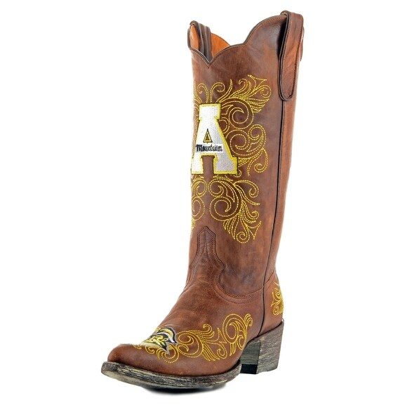 Gameday Boots Womens College Team Appalachian State Brass
