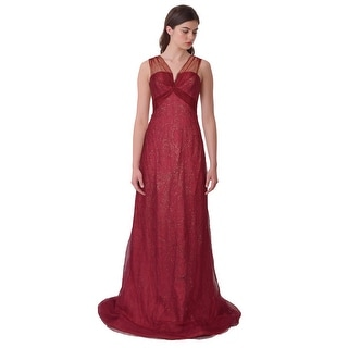 Rene Ruiz Sleeveless Sparkling Tulle Evening Gown Dress - 2