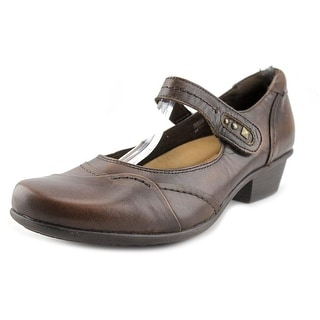 Earth Clover Women Round Toe Leather Brown Mary Janes