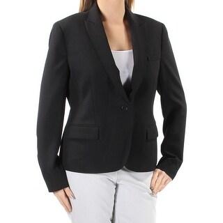 ANNE KLEIN Womens New 1431 Black Blazer Wear To Work Jacket 14 B+B
