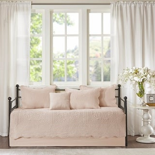 Link to Madison Park Venice 6 Pieces Quilted Daybed Cover Set With Scalloped Edges 3-Color Option Similar Items in Daybed Covers & Sets