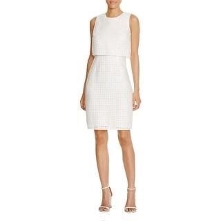 Calvin Klein Womens Casual Dress Window Pattern Popover