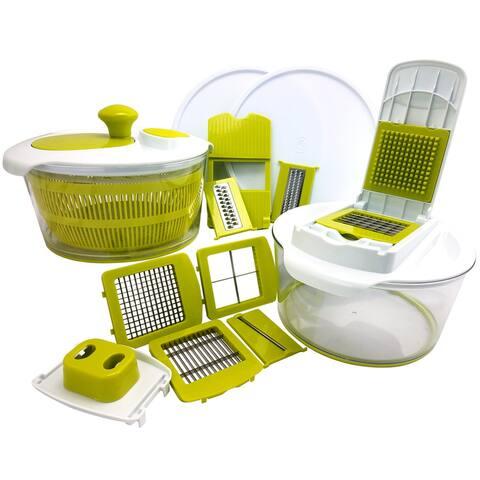 MegaChef 10 in 1 Multi-Use Salad Spinning Slicer Dicer and Chopper