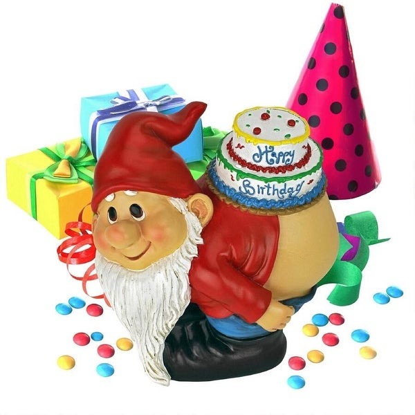 "7.5"" The mooning Birthday Indoor/Outdoor Garden Gnome - N/A"