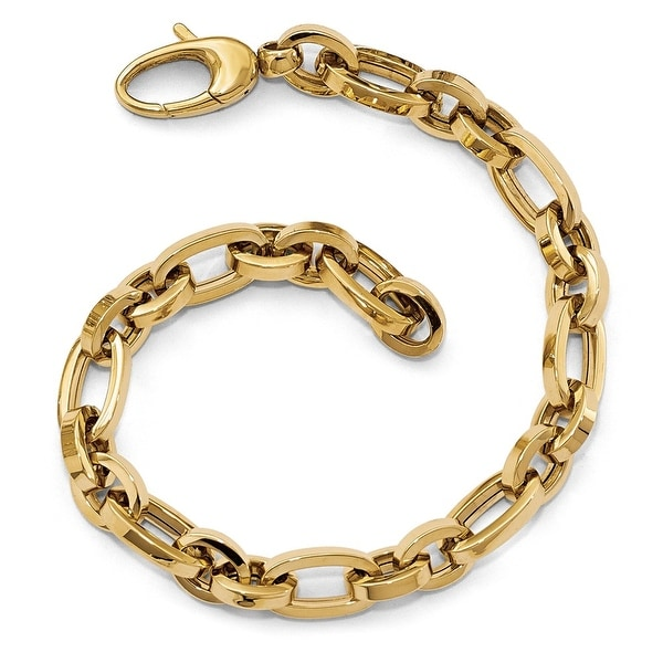 Italian 14k Gold Polished Bracelet - 7.75 inches