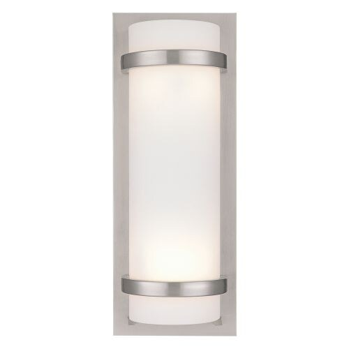 """2 Light 6.75"""" Width ADA Wall Sconce with Etched Opal Shade"""