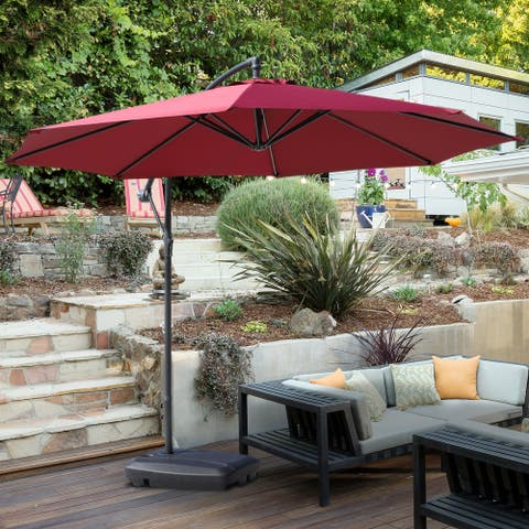 Outsunny Free Standing Portable 132 lbs Weighted Cantilever Offset Umbrella Base