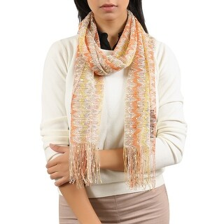 Link to Missoni  Yellow/Orange Zig Zag Scarf - 14-80 Similar Items in Scarves & Wraps