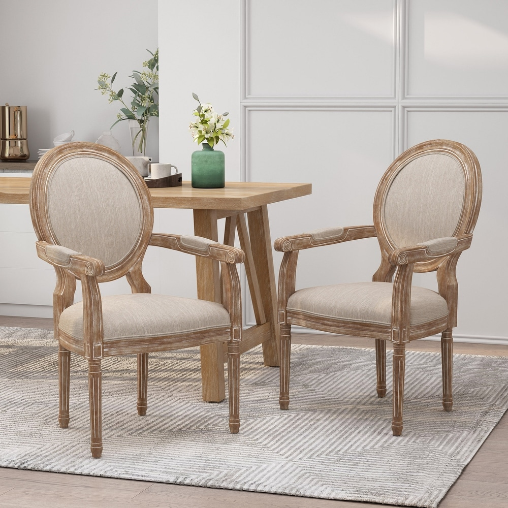 Christopher Knight Home Judith French Country Wood Upholstered Dining Chair