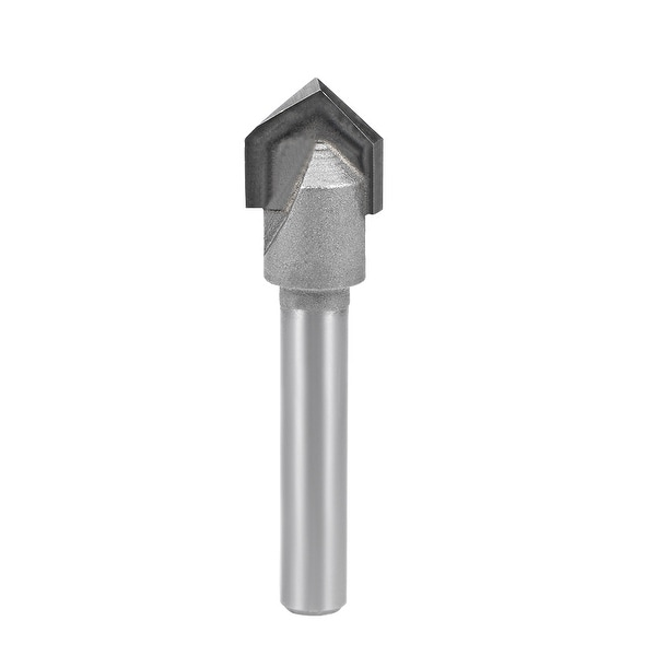 """Router Bit 1/4 Shank 1/2¡° Dia 90 Degree V Type End Mill Carbide Edge Trimmer - 1/4X1/2"""""""