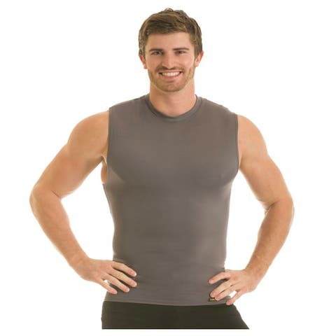Insta Slim Pro Active Wear Sleeveless Crewneck Firming Under Shirt - Forza Gray
