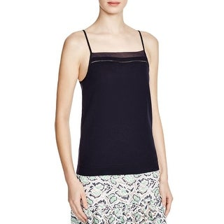 French Connection Womens Tank Top Chiffon Contrast Trim
