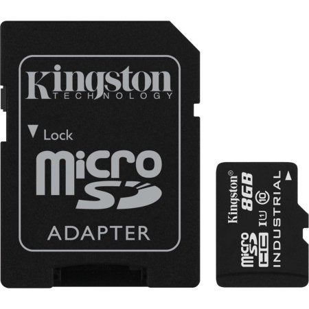 Kingston - 8Gb Industrial Temp Card + Sd Adapter