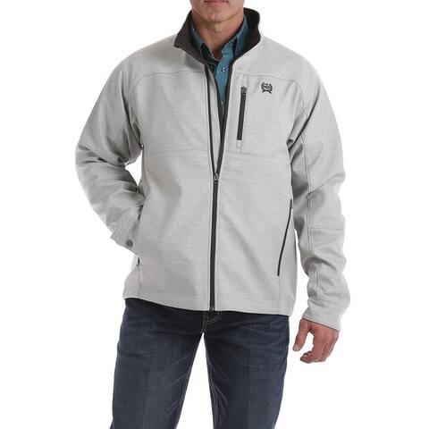Cinch Western Jacket Mens Textured Bonded Logo Emb Stone