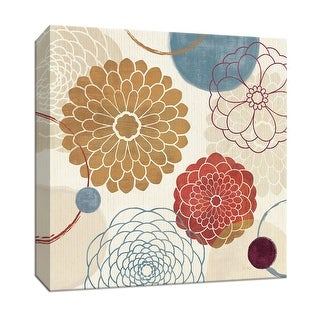 """PTM Images 9-152838  PTM Canvas Collection 12"""" x 12"""" - """"Abstract Bouquet II"""" Giclee Flowers Art Print on Canvas"""