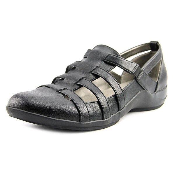Life Stride Maintain Women W Round Toe Leather Black Walking Shoe