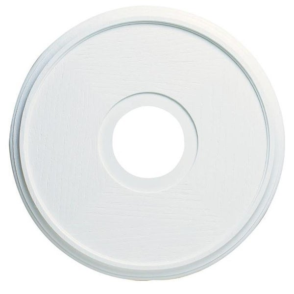 """Westinghouse 7703500 Textured White Ceiling Medallion, 16"""""""