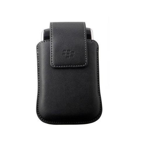 OEM BlackBerry Leather Holster Case for Storm 9530 9500 - Black