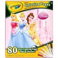 Crayola Mini Coloring Pages - Disney Princess 1 ea