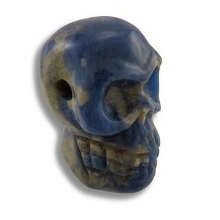 Carved Sodalite Gemstone Skull Pendant 25mm 1 Inch