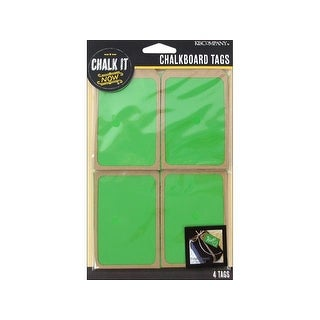 K&Co Chalk It Now Tag Wooden Green