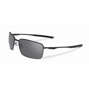 Oakley Square Wire OO4075-04 Polarized Sunglasses - Black