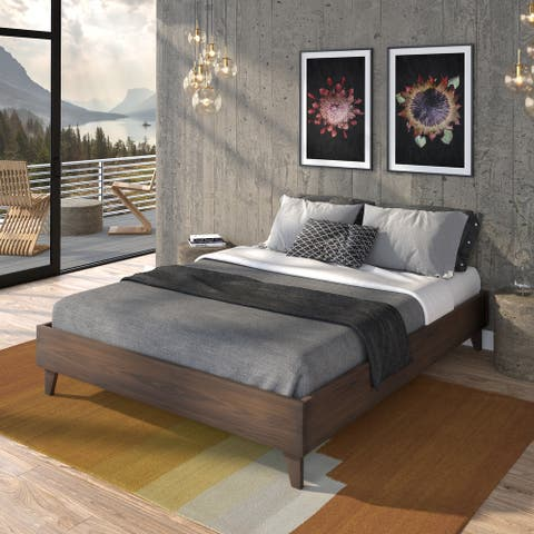 Kotter Home Solid Wood Mid-century Platform Bed