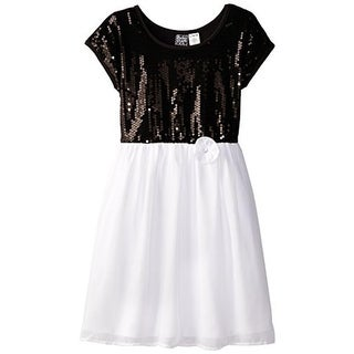 Pogo Club Girls Chiffon Sequined Special Occasion Dress - S