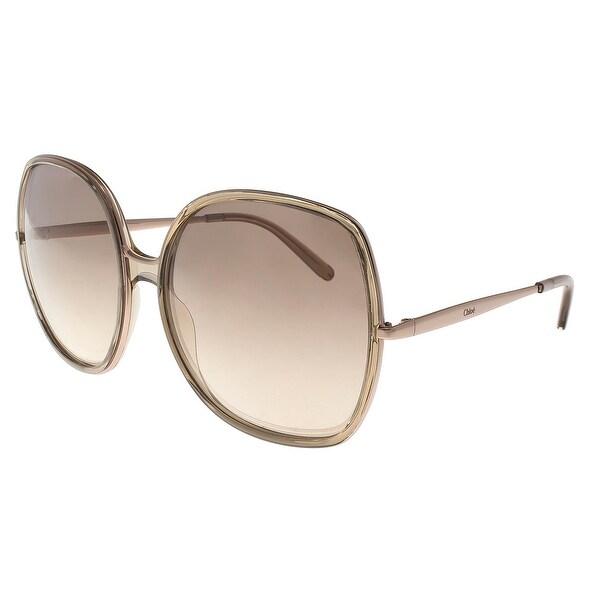 146274b71d Shop Chloe CE725/S 290 Champagne Square Sunglasses - 62-17-135 ...