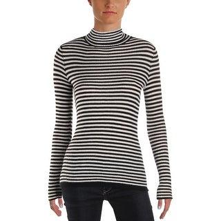 Soft Joie Womens Zelene Turtleneck Sweater Knit Striped