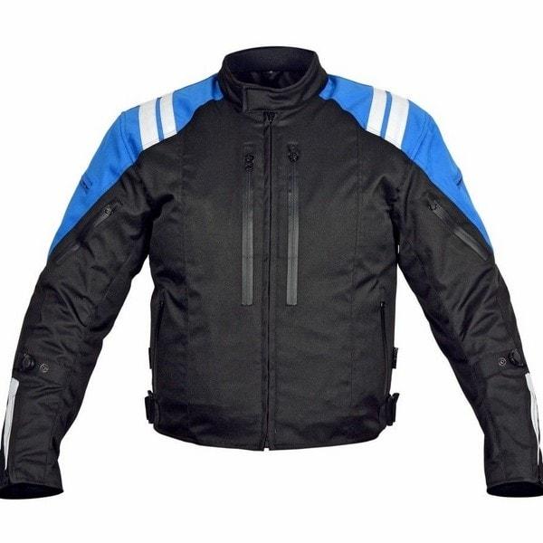Men Motorcycle Textile Race Jacket CE Protection Black MBJ057-2