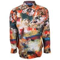 Robert Graham Denton Abstract Floral Button Down Sports Dress Shirt 3XL