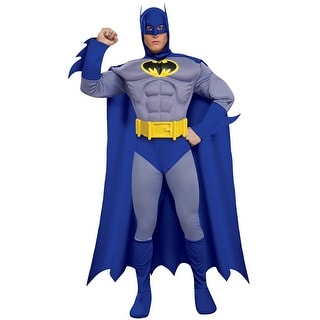 Rubies Batman Deluxe Muscle Chest Batman Adult Costume - Solid