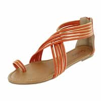 Red Circle Footwear Women's 'Hanna' Multi Strap Toe Sandals