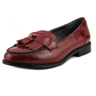 Ros Hommerson Darby Women SS Round Toe Synthetic Burgundy Loafer