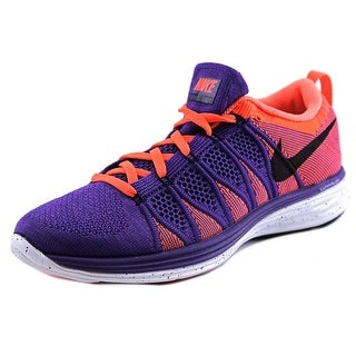 Nike Flyknit Lunar 2 Men Round Toe Synthetic Purple Sneakers