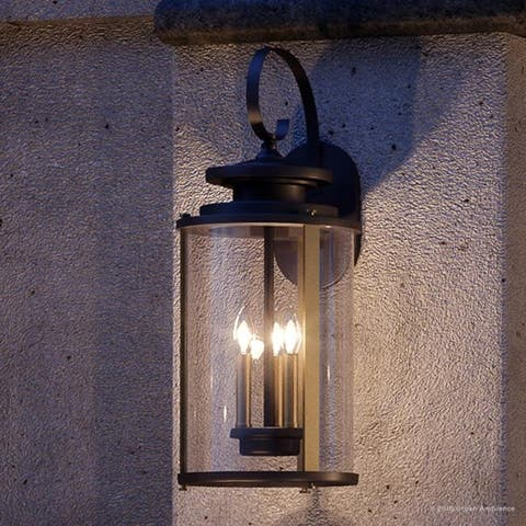 """Luxury Rustic Outdoor Wall Light, 22.75""""H x 9.875""""W, with Colonial Style Elements, Olde Bronze Finish by Urban Ambiance - 9.88"""