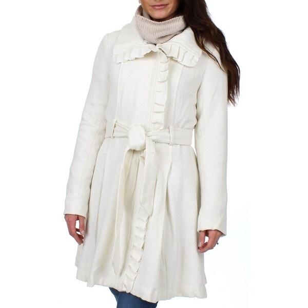 Steve Madden Womens Basic Coat Winter Wool Blend