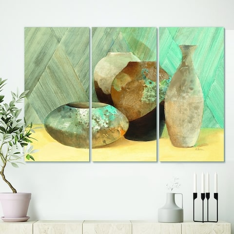 Designart 'Still Life of Vase Bottle' Traditional Canvas Artwork