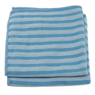 "Unger 966920 Scrub Stripes Cloth, 12"" x 12"""