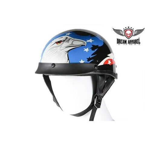 DOT Approved Motorcycle Helmet W/ Eagle Graphic - Size - XL