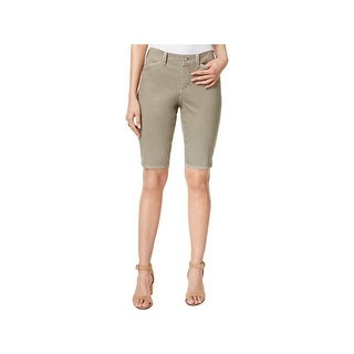 NYDJ Womens Christy Bermuda Shorts Twill Lift Tuck Technology
